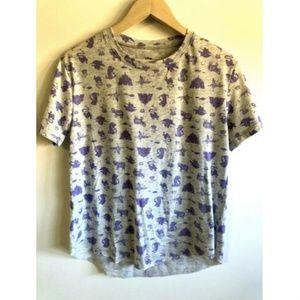 Disney Aladdin Shirt Medium Novelty Print Jasmin M